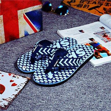 Slippers & amp da uomo;Casual tallone piano Estate Luce Suole PU all'aperto Altri Nero Blu Giallo sandali US8 / EU40 / UK7 / CN41