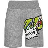 Valentino Rossi VRKSP371305001, Pantalones Cortos Pop Art Bebé Unisex, Gris Melange, 10/11 Años