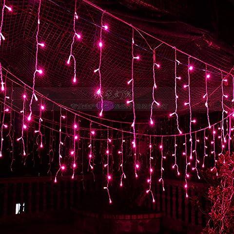 Illuminazione per esterni per case Natale Decorazioni Patio luci LED tensione 220V,4 metri di rosa ghiacciolo luce