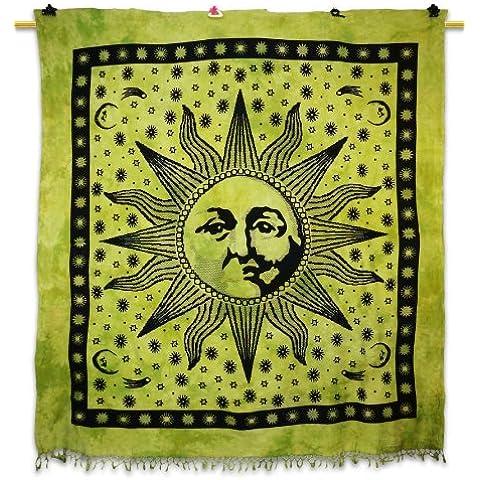 Handicrunch Sun Poster stampate arazzo verde di