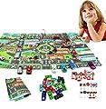JYOHEY 29 Stück Garage Spielzeug Parkhaus Spielzeug Stadt Straßenkarte Parkgarage Auto Spielzeug und Verkehrszeichen Für Kinder Geschenk von JYOHEY