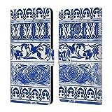Head Case Designs Keramiktopf Chinesische Vase Muster Brieftasche Handyhülle aus Leder für HTC U11 Life