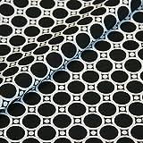 Punkte-Stoff Baumwolle Gemustert Meterware - Schwarz, Weiß