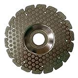 DEWEPRO® Diamanttrenn- und Schleifscheibe - Ø 115 mm Fliesen DUO - Diamantscheibe mit 2 Funktionen