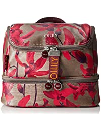 Oilily Damen Jolly Washbag Mhz 2 Clutch, Rot (Dark Red), 13.5 x 22 x 27 cm