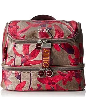 Oilily Damen Jolly Washbag Mhz 2 Clutch, Rot (Dark Red), 13.5 x 22 x 27 cm