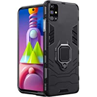TheGiftKart Tough Armor Samsung Galaxy M51 Bumper Back Case Cover | Ring Holder & Kickstand in-Built | Excellent 360…