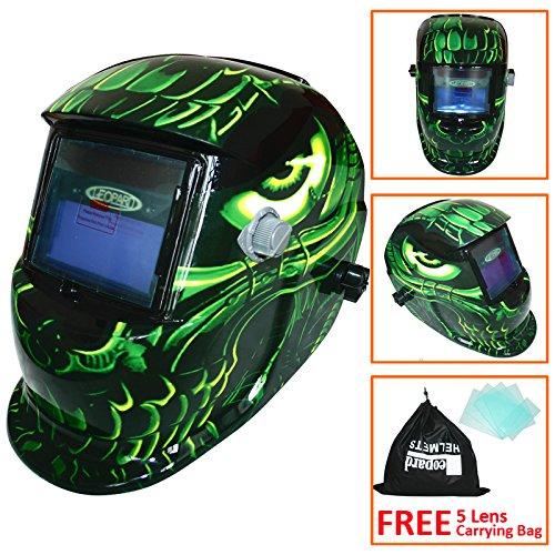 Preisvergleich Produktbild Leopard LEO-WH86 Solarbetriebene + Automatische Verdunkelung + Schleiffunktion + 9-13 Schatten Schweißhelm Maske mit 5 Kostenlosen Ersatzlinsen (Ausländer)
