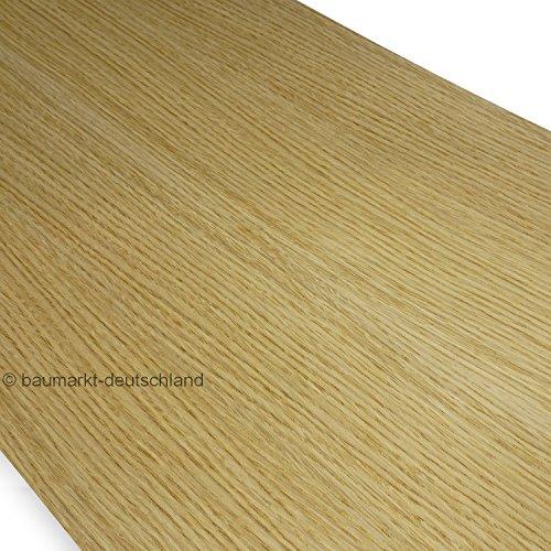 Eiche Furnier (Echtholzfurnier ohne Schmelzkleber 280x28cm Eiche europäisch)