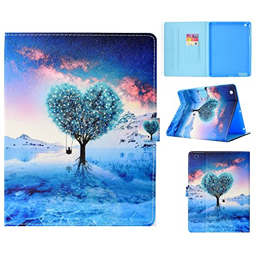 casii iPad 2/3/4 Schutzhülle mit Standfunktion Smart Case Cover iPad 2 Fällen Leder 24,6 cm Apple iPad 2./3./4. Generation Case Light Gewicht Kunstleder mit Auto Sleep/Wake Funktion 001-Tree