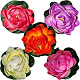 #5: 6 pc s Mixed Artificial Floating Lotus Flower floating in Tank /Pool /
