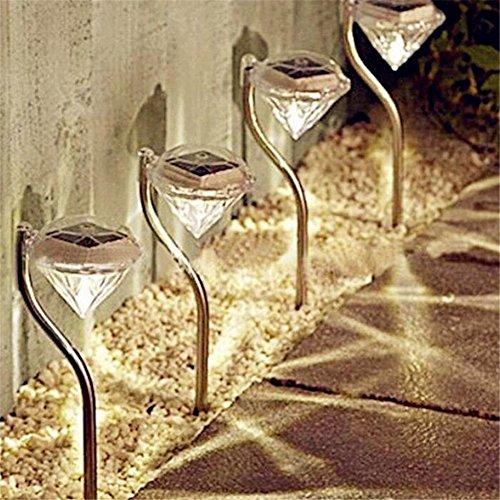 Etbotu Diamant Garten Sonnenenergie LED im Freiennachtlicht Landschaft-Lampen Heller Pfad Wand