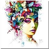 L 'Effet Papillon - Kunstdruck - Poster von Patrice Murciano, ungerahmt , Grösse 70 cm x 70 cm, Kunstdruck auf hochwertigem Kunstdruckpapier digital gedruckt, Pop Art francaise, Cyber Art, Punk, wird in stabiler Versandrolle versandt
