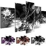 Bild 200 x 100 cm - Abstrakt Bilder- Vlies Leinwand - Deko für Wohnzimmer -Wandbild - XXL 5 Teilig Teile - leichtes Aufhängen- 800351c