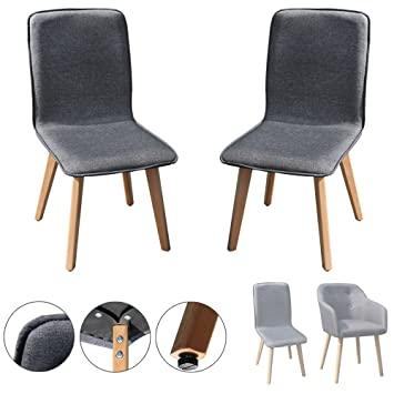 2 / 4 / 6 / 8 Set Stühle Esszimmerstühle Stuhl Sessel Armlehne Grau  Kingpower,