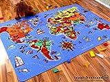 Lernen und Spielen Kinderteppich Weltkarte in 4 Größen