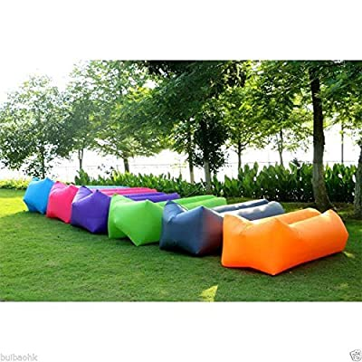 Ltuotu Lightweight Air Sofa Sleep Bed Inflation Bag Lounger Couch Hiking Tool Inflatable Sofa for Outdoor Activities (purple)