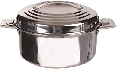 Hot N Fresh Double Walled Insulated hotpot chapathi/Food Casserole,Stainless Steel, 1000ml