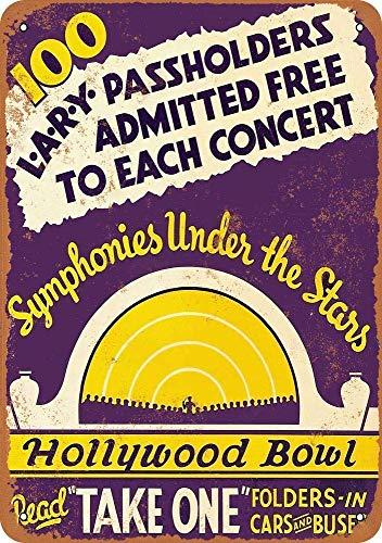 Froy Hollywood Bowl Wand Blechschild Retro Eisen Poster Malerei Plaque Blech Vintage Dekoration Handwerk Für Cafe Bar Garage Home