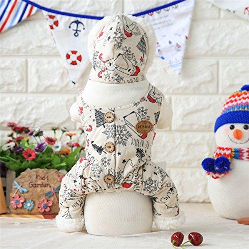 Hund Herbst/Winter-Tier-Kostüm Haustier-Pullover Süße Weihnachts Style, Weiß, (Welpe Kinder Hund Kostüme Dalmatiner)