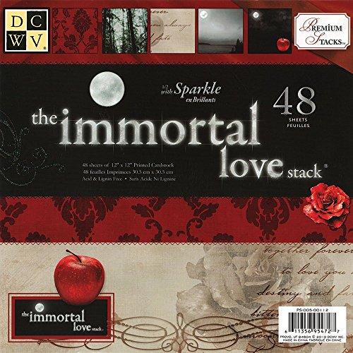 Diecuts mit Blick Papier Stapel 12Zoll x 12Zoll 48kg-Immortal Love -