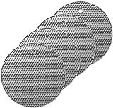 Oishii 4er Set Topf Untersetzer aus Silikon - Runde Topflappen Hitzebeständig bis zu 230°C & Spülmaschinenfest (Grau)
