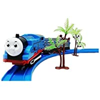 Angel Impex Battery Operated Toy Train Engine with Bogie on Railway Track for Kids