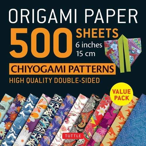 Origami Paper 500 sheets Chiyogami Designs 6 inch 15cm (Origami Paper Pack) (Origami Design)