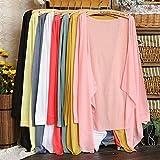 #9: Ocamo Spring Autumn Women Cardigan Long Sleeve Sun Protection Shawl Knitting Thin Sweater Female Clothing