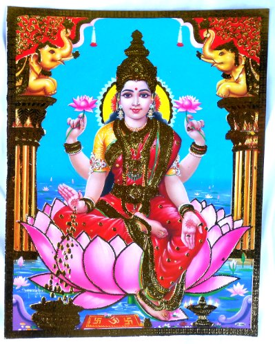Bild POSTER Lakshmi Laxmi 30x23 cm Nr. 76 Prägedruck
