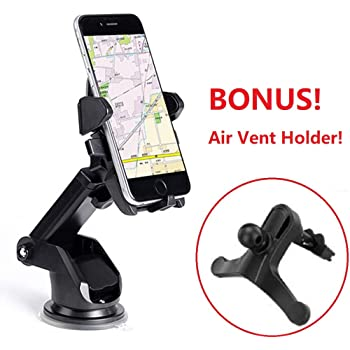 Car Phone Mount HTC Elzo Car Holder Universal Windshield//Dashboard Cradle with Strong Sticky Gel Pad One-Touch Design 360/° Rotation for Phone XS X 8 7 6S 6 Plus Samsung Galaxy S8 S7 LG Huawei 35CM-ESCD-4BE