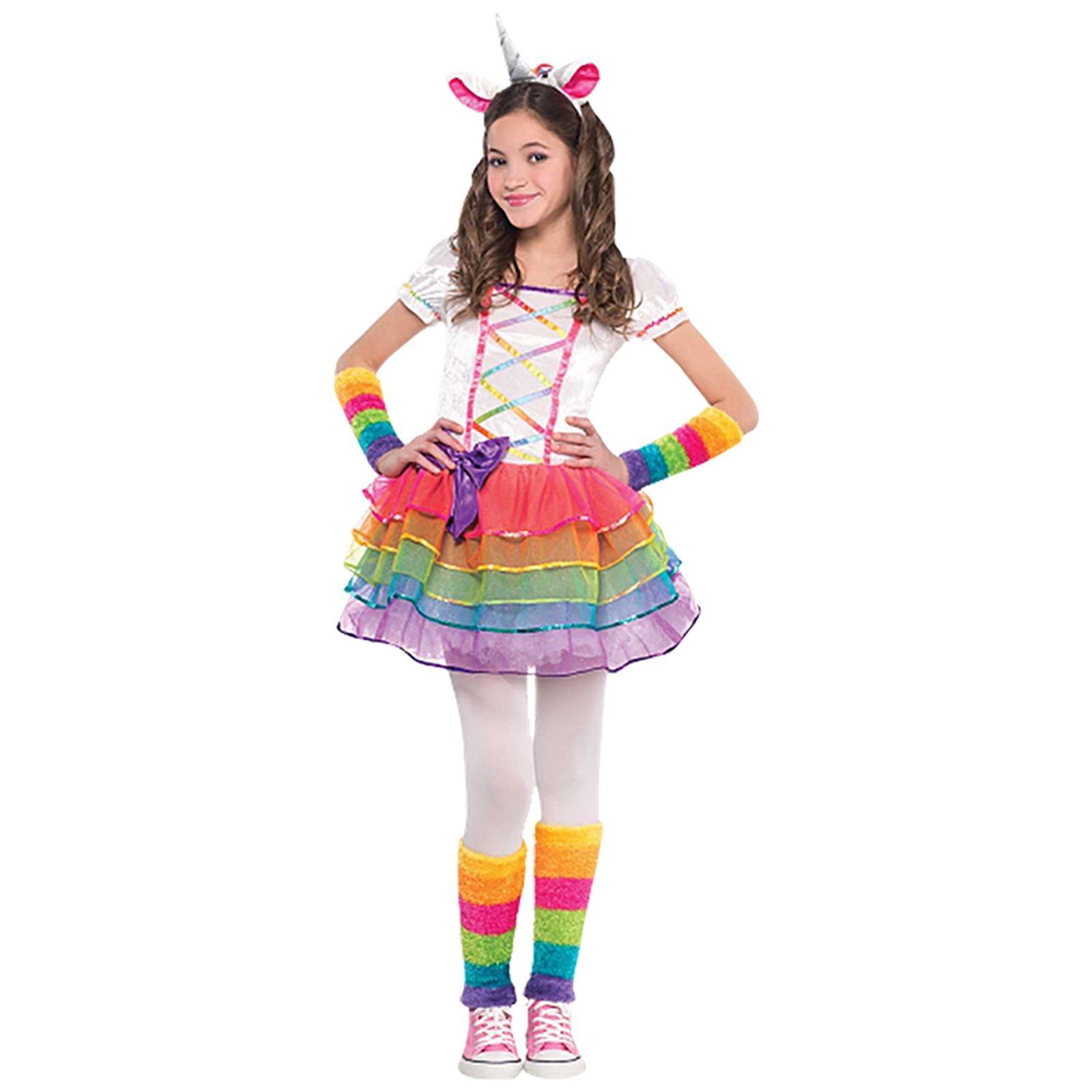 Rainbow-Unicorn-Girls-Fancy-Dress-Fairy-Tale-Book-Day-Animal-Kids-Childs-Costume