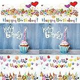 Happy Birthday Karte Geburtstagskarten Gratulationskarte Geburtstag Karten 6 Stück Klappkarte Glückwunschkarte lustig 18 30 40 50 Kinder lustig ausgefallen Blumen cool comic im Set Jungen Mädchen