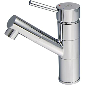 BURGTAL SELIA   Badarmatur - Waschtischarmatur   Mischbatterie mit Brausekopf   Einhebelmischer mit Pop-Up Ablaufgarnitur   Hochdruck   Chrom