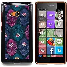 Stuss Case / Funda Carcasa protectora - Patrón del pavo real del trullo púrpura rosada - Nokia Lumia 540