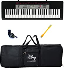 Casio & Blueberry Digital keyboard with Adapter Bag and USB LED, CTK1550