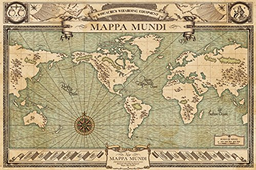 Fantastic Beasts and Where to Find Them Maxi Poster Mappa Mundi 61 x 91,5 cm Laminato