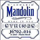 D\'Addario Corde seule en nickel pour mandoline D\'Addario J6702, .014