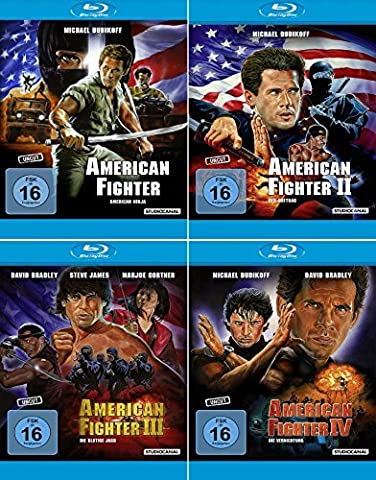 American Fighter 1 - 4 Uncut Collection (4-Blu-ray) Kein Box-Set