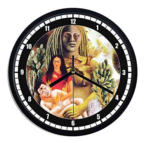 Reloj de pared de plástico Frida KALHO-abrazo amoroso universo