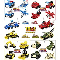 ‏‪STEM Party Favors for Kids,Goodie Bags,Prizes,Birthday,Party Supplies Transform Assembly Cars Mini Toy Building Block Bricks Compatible Sets(16Pack,4In1&16In1)‬‏