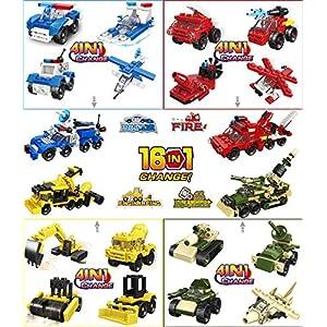OneNext Freddo Bomboniere per Bambini,Goodie Bags,Premi,Compleanno - Polizia, Militari,Camion dei Pompieri, Edilizia… 0750076529195 LEGO