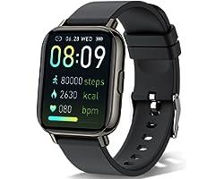 "Sudugo Smart Watch, 1.69"" Touch Screen Smartwatch 24 Sports Modes Fitness Activity Trackers, IP67 Waterproof Fitness Watch Pe"