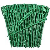 Iapyx® Bridas para plantas, Clips fuertes y resistentes, extra grandes para árboles en espaldera, arcos de rosas, pérgolas, etc., verde