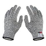TianranRT A Paar Schnitt Resistent Handschuhe Essen Klasse Stufe 5 Schutz Arbeiten Schneiden (Schwarz,L)