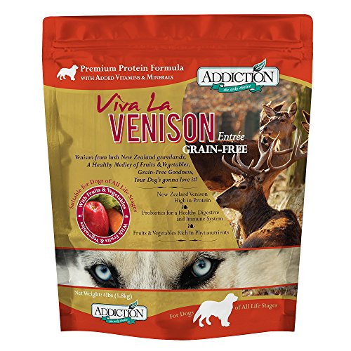 Addiction Viva La Venison Grain Free Dry Dog Food, 4 lb.