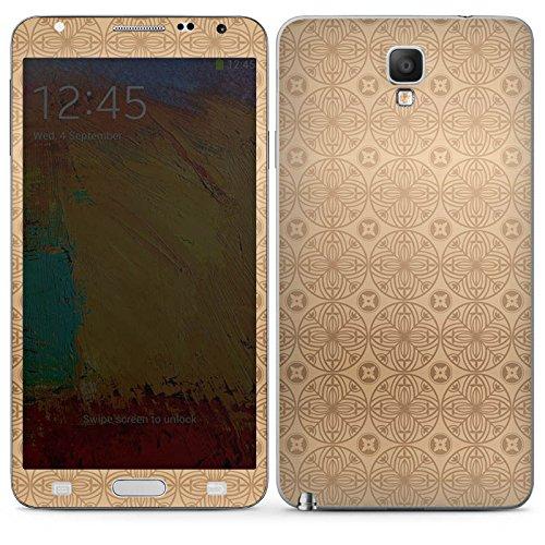 Manor-konsole (Samsung Galaxy Note 3 Neo Case Skin Sticker aus Vinyl-Folie Aufkleber Blume Flower Muster)