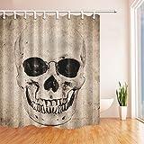 GuoEY Home Decor Kollektion Echten Schädel Duschvorhang 71 X 71 cm Schimmel Polyester Bad Fantastischen Dekorationen Badewanne Vorhänge Haken Enthalten