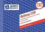 10er Sparpack Avery Zweckform 1736 Quittung inkl. MwSt.