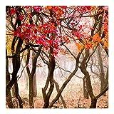 Papel pintado no tejido, representando Japón en otoño